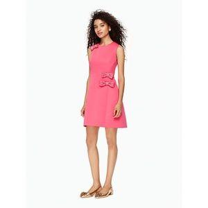 Kate Spade Pink Dress Embellished Bows A-Line Sz 6